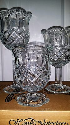 Votive Candles Cups/ Three on Stems Home Interio New