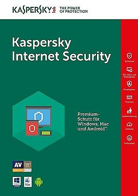 Kaspersky Internet Security 2018 1Gerät/PC 1Jahr Vollversion Lizenz Key Download