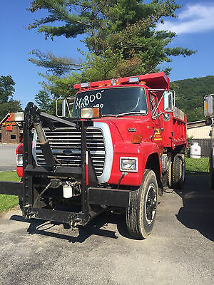 1987 Ford L8000 Dump Truck with Plow & Sander - CAT 3208T 69K Miles