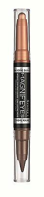 RIMMEL MAGNIF'EYES TWO IN ONE EYE SHADOW LINER PIGMENT PINK GOLD Christmas gift