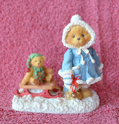 Cherished Teddies Mary A Special Friend Warms The Season Bear Pulling Sled