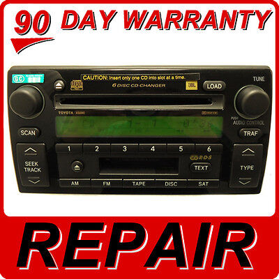 REPAIR SERVICE ONLY Toyota Camry 6 Disc Changer MP3 CD Player JBL Radio OEM Fix