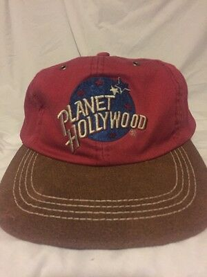 New Planet Hollywood Twill Leather Baseball Cap