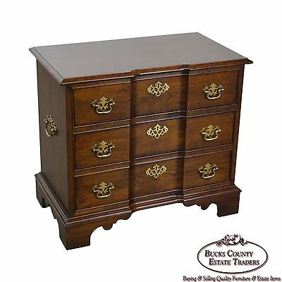 Pennsylvania House Solid Cherry Block Front Nightstand Chest