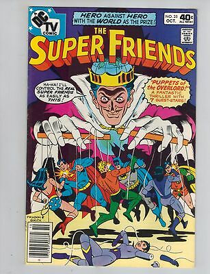 The Super Friends 25  Puppets of the Overlord!  1979  VF DC Comic!