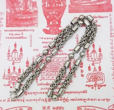 Big 9.5Mm 30Inches Solid Stainless Steel Necklace Solid For Thai Amulet Handmade