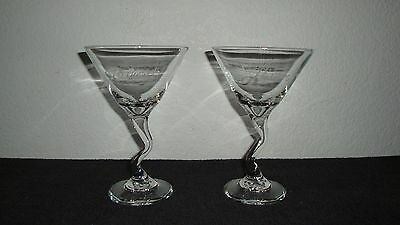 "2 *RARE* 1999 Passions Soap Opera ""Martimmy"" Glasses In Mint Condition *LOOK*"