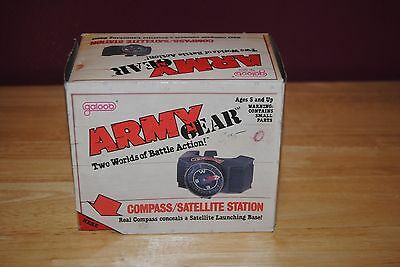 galoob army gear compass / satellite station 1988 neuf en boite