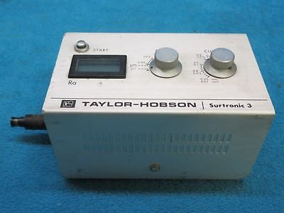 Taylor-Hobson Surtronic 3 Roughness Gauge +/- 2% of Reading, +/- 1 Significant