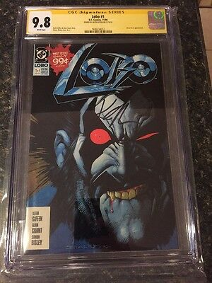 LOBO #1 DC 1990 CGC 9.8 SS Signed By Lobo Creator Giffen From Omega Men #3