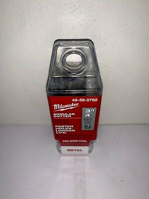 """MILWAUKEE 49-59-0750 Annular Cutters HSS 3/4"""" x 1"""" Depth Made in Germany"""