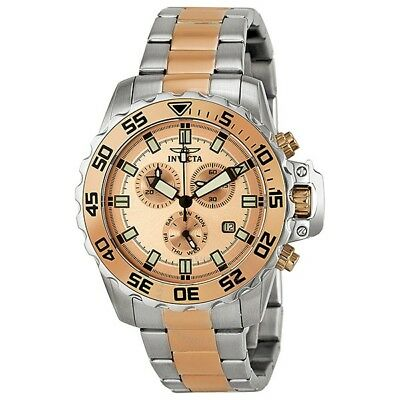Invicta Men's 13627 Rose-Gold Dial Chronograph Two-Tone Watch