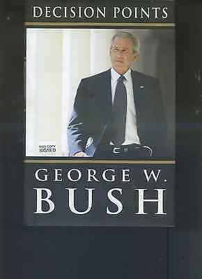 GEORGE W BUSH signed 2010 hc DECISION POINTS   hc BOOK