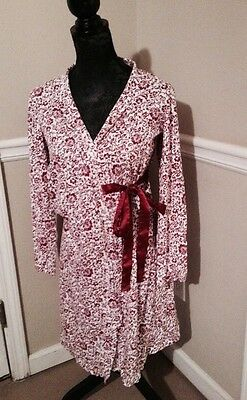 Motherhood Maternity Nursing Robe Size Small Cotton Maroon