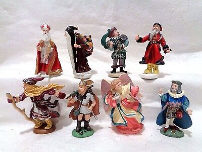 Lot of 8 Duncan Royale Miniature History of Santa Claus Pewter Figures IOB's