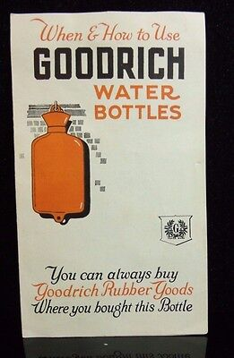 Vintage GOODRICH WATER BOTTLES Brochure