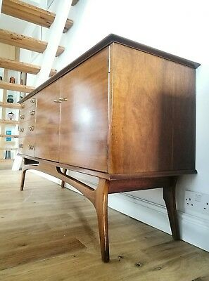 Superb Vintage Mid Century Modern Hand Made Rosewood Alfred Cox Sideboard Heals