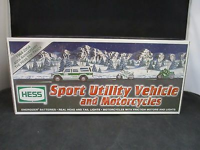 2004 Hess Toy Truck Sport Utility and Motorcycles 40th Anniversary NIB Lot B
