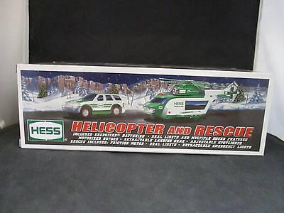 2012 Hess Truck Collectible ~ Helicopter & Rescue Truck NIB