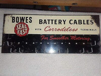 Original Bowes Seal Fast Battery Cable Sign