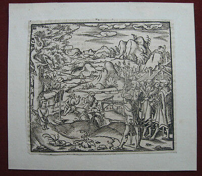 Holzschnitt von Hans Rudolph Manuel Deutsch: Wilhelm Tell 1550/Woodcut William