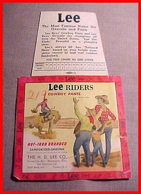 1930's/1940's Union Made Lee Boys' Riders Cowboy Pants Jeans Back Pocket Label