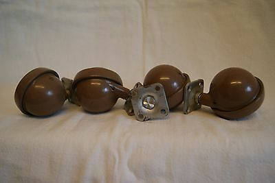4 X  Vintage Heavy Duty Casters