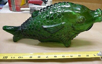 Vintage Glass Fish Decanter, Bottle.  Sits horizontal