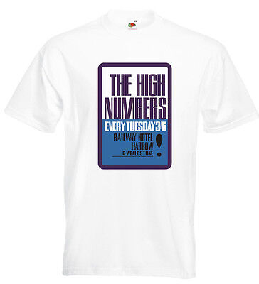 The Who High Numbers T Shirt Harrow and Wealdstone Pete Townshend Roger Daltrey