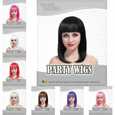 Women Ladies Long Bob Wig Fancy Dress Cosplay Wigs Pop Party Costume