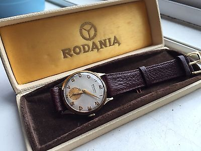 stunning vintage 9k 9ct solid gold mens watch boxed!