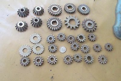 30 cutters some are angled  milling cutters must see!!