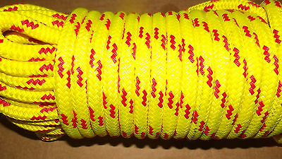 "NEW 7/16"" (11mm) x 40'  Floating Dinghy Tow Rope, Safety Line, Boat Rope"