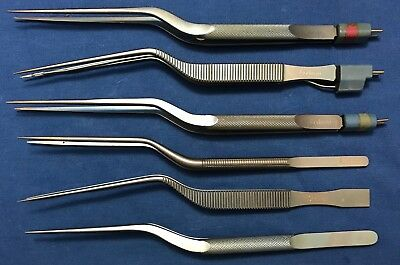 Codman Titanium Bipolar Forcep Set - Lot of 6
