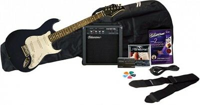 Silvertone Revolver Electric Guitar Package With Instructional DVD, Blue