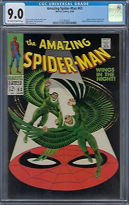 Amazing Spider-Man #63 : Cbcs 9.0-   Ow/white Pages -Vulture Cover