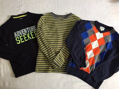 Lot of 3 Boys Long Sleeve Sweater Children's Place Gymboree Old Navy 10/12