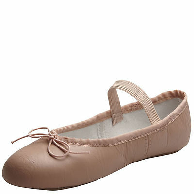 Pink Leather Ballet Dance Shoes American Ballet Theatre Youth Toddler Girls New
