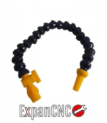 Flexible Plastic Water Oil Coolant Pipe Hose For Lathe 1/4 fi 16 x 300 mm valve