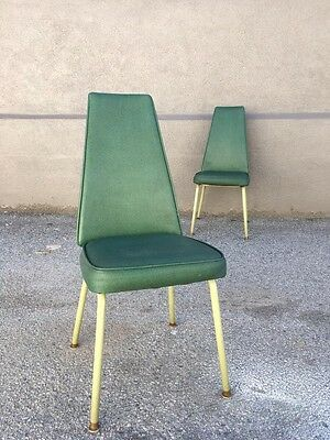 Vintage 1960s Chairs Set Of 2 / Mid Century / Mod /Astro / Retro / Mad Men Style