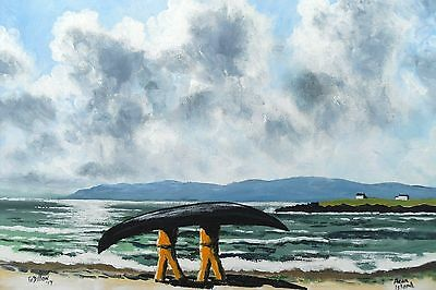 Irish Art,Original Painting,Kilmurvey Beach,Aran Island,by Gerry Dillon,Dingle