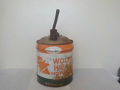 Vintage 5 Gallon Wolf's Head Motor Oil Can