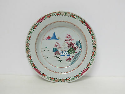 Fine Antique Chinese Qing Dynasty Export Famille Rose Porcelain Plate