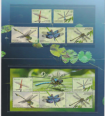 Australia 2017 : Stamp Collecting Month - Dragonflies Stamp pack Mint Condition