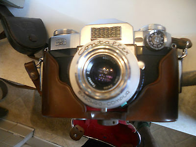 Vintage Zeiss Ikon Contaflex Camera With 2 Lenses In Case Too