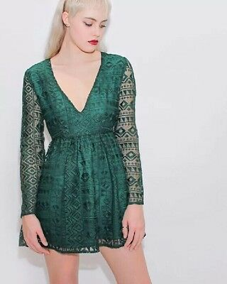 b9266e757357 Urban Outfitters Little White Lies Abi emerald green dress size extra small  XS