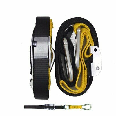 GORILLAS GRIP TIE DOWNS  -  TD3BY   25mm YELLOW / BLACK - SNAP HOOK/S HOOK