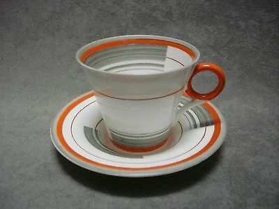 Art Deco Shelley China Coffee Cup Duo Regent W12132