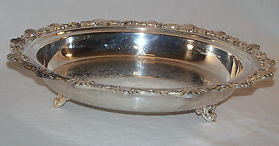 Beautiful Footed Silverplate Serving Bowl