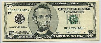 1999 Series 5$ * STAR * Federal Reserve note